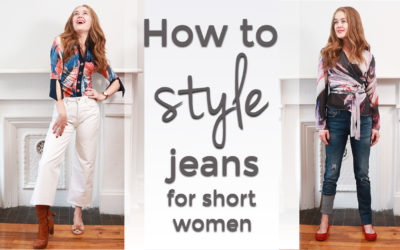 How to style your jeans for short women